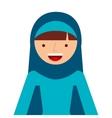 islamic woman culture icon vector image vector image