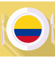 kitchen of Colombia vector image vector image