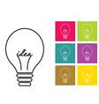 lamp sign icon idea symbol vector image vector image