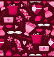lovely seamless pattern for valentines day vector image vector image