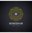 Luxury monogram Vintage logo icon vector image vector image