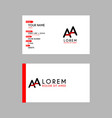 modern creative business card template with aa vector image vector image