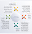 modern infographic diagram business vector image vector image