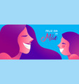mother day portuguese banner of girl and mom vector image vector image