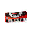 music instrument electronic piano or synthesizer vector image