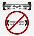 No Gyroscooter Gyro board electric scooter vector image