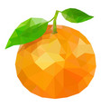 orange polygonal orange low vector image vector image