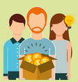 people saving money vector image vector image