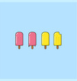 popsicle ice cream set logo sign icon template vector image