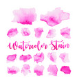 purple water color paint stain vector image