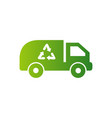 recycle with car logo concept template simple vector image