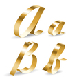 Ribbon alphabet ab vector | Price: 1 Credit (USD $1)