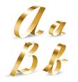 Ribbon alphabet ab vector image vector image