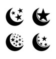 set moon and stars vector image