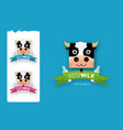 set of labels and icons for milk vector image