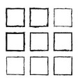 set square frames drawn 3 vector image vector image