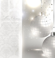 Silver Christmas Card vector image vector image