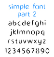Simple font the second part Lowercase letters vector image vector image