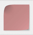 sticky note isolated on transparent background vector image vector image