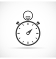 Stopwatch icon on white vector image vector image