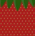 strawberry surface pattern with leaf vector image vector image