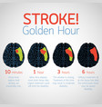 stroke golden hour infographic logo icon vector image vector image