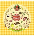 Tea time elements vector image