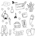 Tools education in doodle vector image vector image