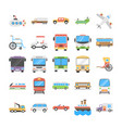transport flat icons pack vector image