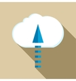Upload from cloud icon flat style vector image