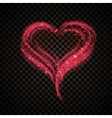Valentines day Sparkle card 1 vector image vector image
