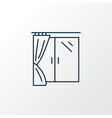 window icon line symbol premium quality isolated vector image vector image