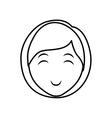 Woman head icon Person design graphic vector image vector image
