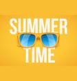 yellow sunglasses on yellow background vector image