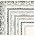Decorative seamless ornamental border