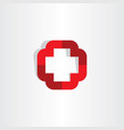 medical cross symbol icon logo element vector image