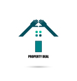 Hand and real estate icons vector image