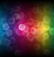 Rainbow bokeh background vector image