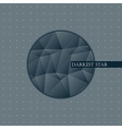 Abstract circle with triangles vector image vector image