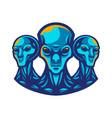 alien mascot logo vector image