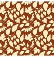 Autumn seamless pattern with leaves silhouettes vector image vector image
