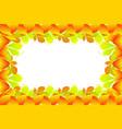 autumnal leaf of chestnut vector image vector image