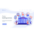 banking operations concept landing page vector image vector image