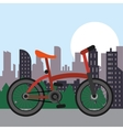 Bike city and healthy lifestyle design vector image vector image