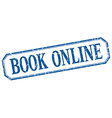 book online square blue grunge vintage isolated vector image vector image
