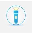 Bright flashlight icon vector image vector image