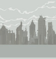 cartoon gray city of dilapidated skyscrapers vector image vector image
