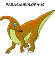 cartoon parasaurolophus isolated vector image vector image