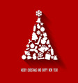 christmas tree made from various shapes vector image
