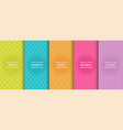 collection colorful geometric simple seamless vector image vector image